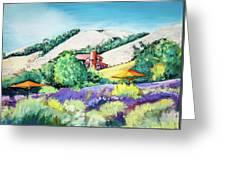 Lavender At Matanzas Creek Greeting Card