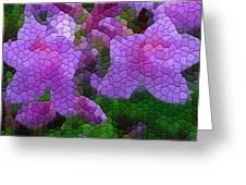 Lavender Azaleas Greeting Card