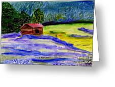 Lavender Barn Greeting Card