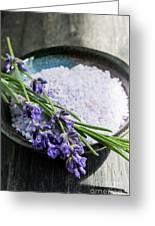 Lavender Bath Salts In Dish Greeting Card