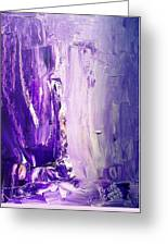 Lavender Cascades In The Purple Mountains Greeting Card