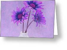 Lavender Chrysanthemum Still Life Greeting Card