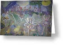 Lavender Fairies Greeting Card
