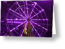Lavender Ferris Wheel Greeting Card