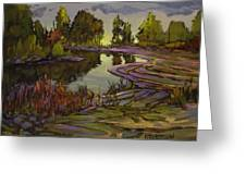 Lavender Field, Langley B C Greeting Card