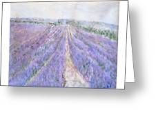 Lavender Fields Provence-france Greeting Card