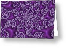 Lavender Fractal  Greeting Card
