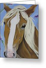 Lavender Horse Greeting Card