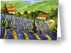 Lavender Scene Greeting Card