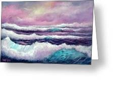 Lavender Sea Greeting Card