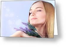Lavender Spa Aromatherapy  Greeting Card