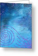 Lavender Spiral  Greeting Card