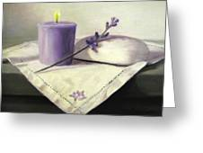 Lavender Sprig Greeting Card by Linda Jacobus