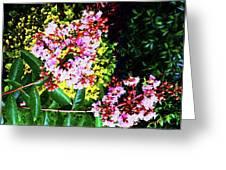Lavender Upon Gold Greeting Card