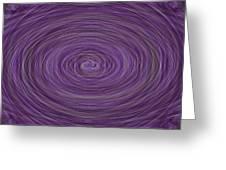 Lavender Vortex Greeting Card