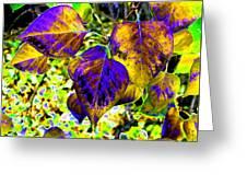 Lavish Leaves 3 Greeting Card