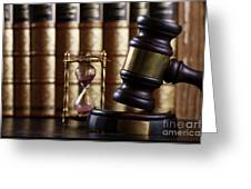 Law And Justice  Greeting Card