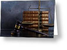 Law And Justice II Greeting Card