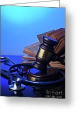 Medical Law Greeting Card