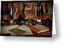 Lawyer - A Lawyers Desk Greeting Card