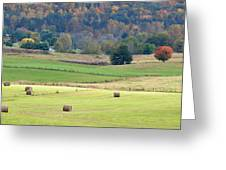 Layers Of Fields Greeting Card