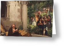 Lazarus And The Rich Man 1865 Greeting Card