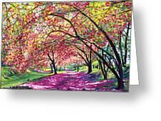 Lazy On A Sunday Central Park Greeting Card by David Lloyd Glover