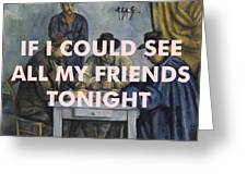 Lcd Soundsystem Lyrics Print Greeting Card