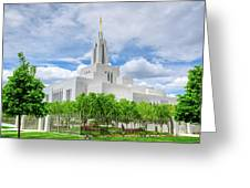 Lds Draper Temple Greeting Card