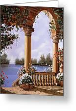Le Arcate Chiuse Sul Lago Greeting Card