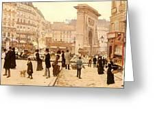 Le Boulevard St Denis - Paris Greeting Card
