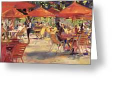 Le Cafe Du Jardin  Greeting Card
