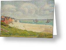 Le Crotoy Looking Upstream Greeting Card