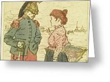 Le Cuirassier Greeting Card