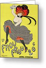 Le Frou Frou Vintage Poster By Leonetto Cappiello, 1899 Greeting Card