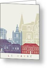 Le Havre Skyline Poster Greeting Card