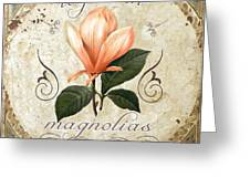 Le Jardin Magnolias Greeting Card