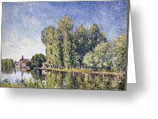 Le Loing A Moret Greeting Card