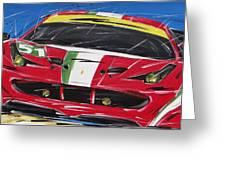 Le Mans Ferrari 458 Greeting Card