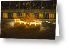 Le Mans On Fire Greeting Card