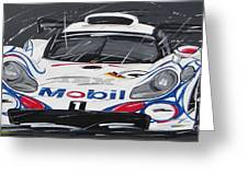 Le Mans Porsche 911 Gt 1995 Greeting Card