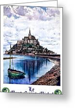 Le Mont, Saint Michel, France Greeting Card