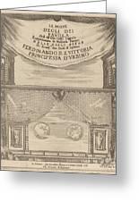 Le Nozze Degli Dei: Frontispiece Greeting Card