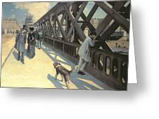 Le Pont De L'europe Greeting Card