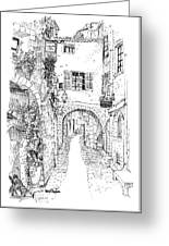 Le Pontis Saint-paul De Vence France Greeting Card