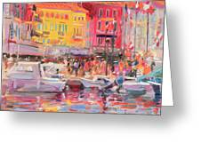 Le Port De St Tropez Greeting Card by Peter Graham