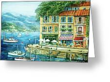 Le Port Greeting Card by Marilyn Dunlap