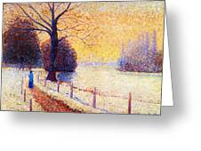Le Puy In The Snow 1889 Greeting Card