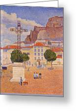 Le Puy The Sunny Plaza 1890 Greeting Card