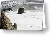 Le Rognon Glacier D'argentiere Vue Depuis L'aiguille Des Grands Montets Argentiere Haute Savoie Greeting Card
